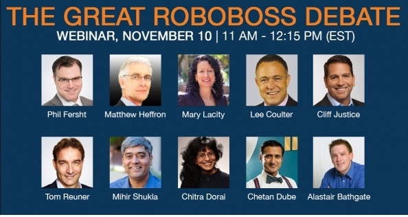 You'll wake up on November 10th to a new president and the Great Roboboss Debate!