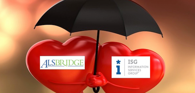 So ISG bought Alsbridge.  That happened