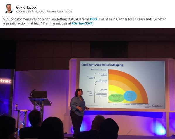Gartner: 96% of customers are getting real value from RPA? Really