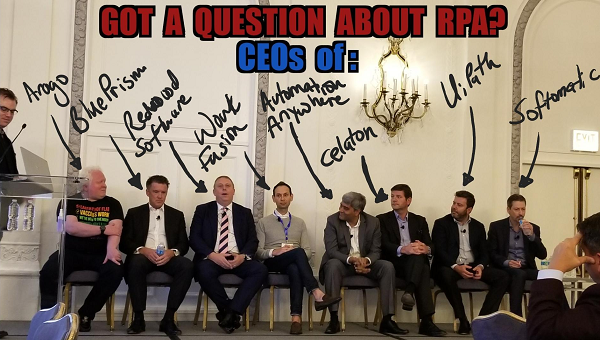 Images from FORA:  Ever seen all the automation CEOs in a line up like this?
