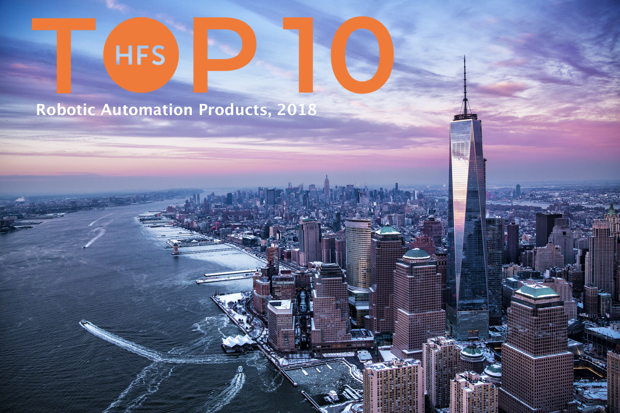 1. #AutomationAnywhere, 2. #BluePrism, and 3. #UiPath make up the top three in the inaugural HfS Top 10
