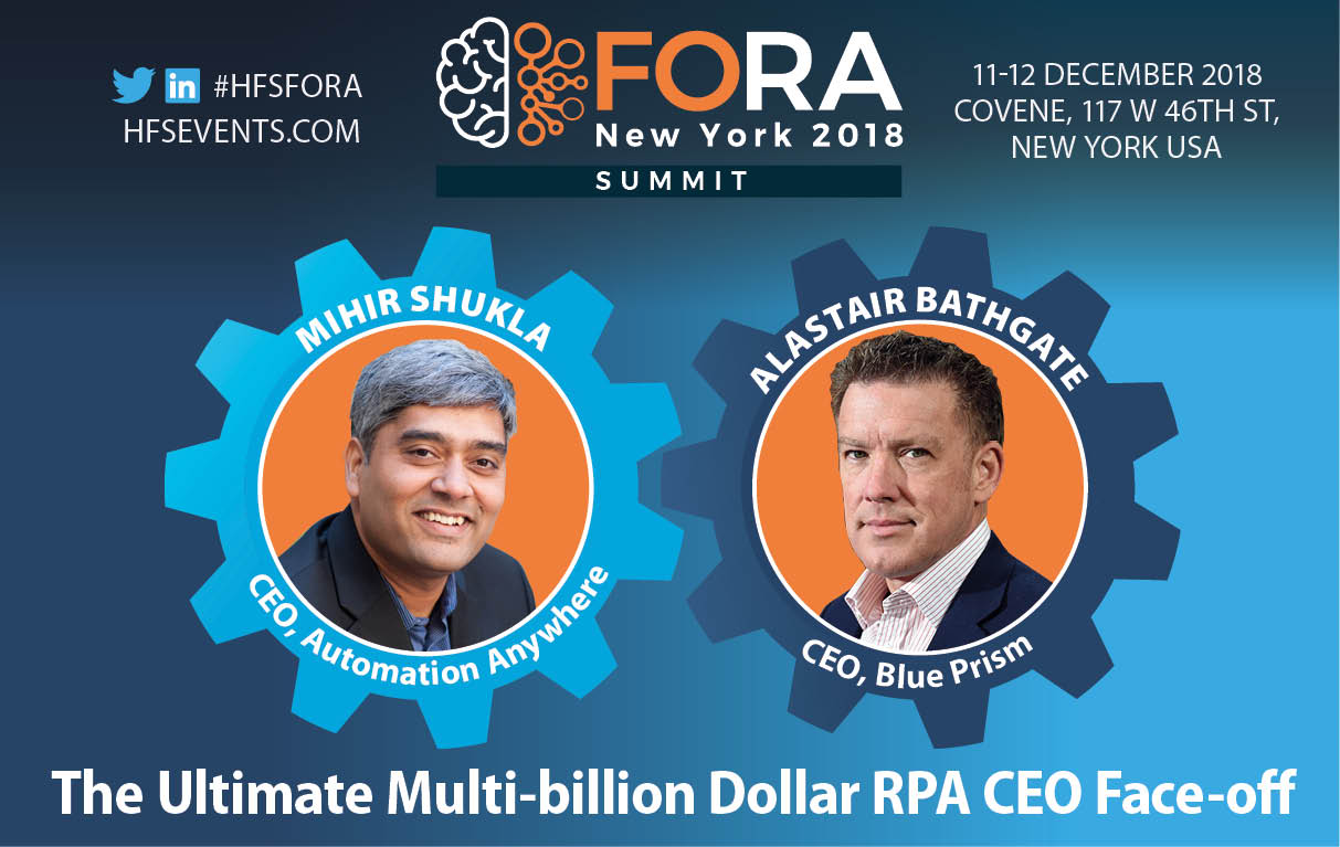 Mihir Shukla and Alastair Bathgate in the Battle for the Robotic Billions... only at HFS FORA