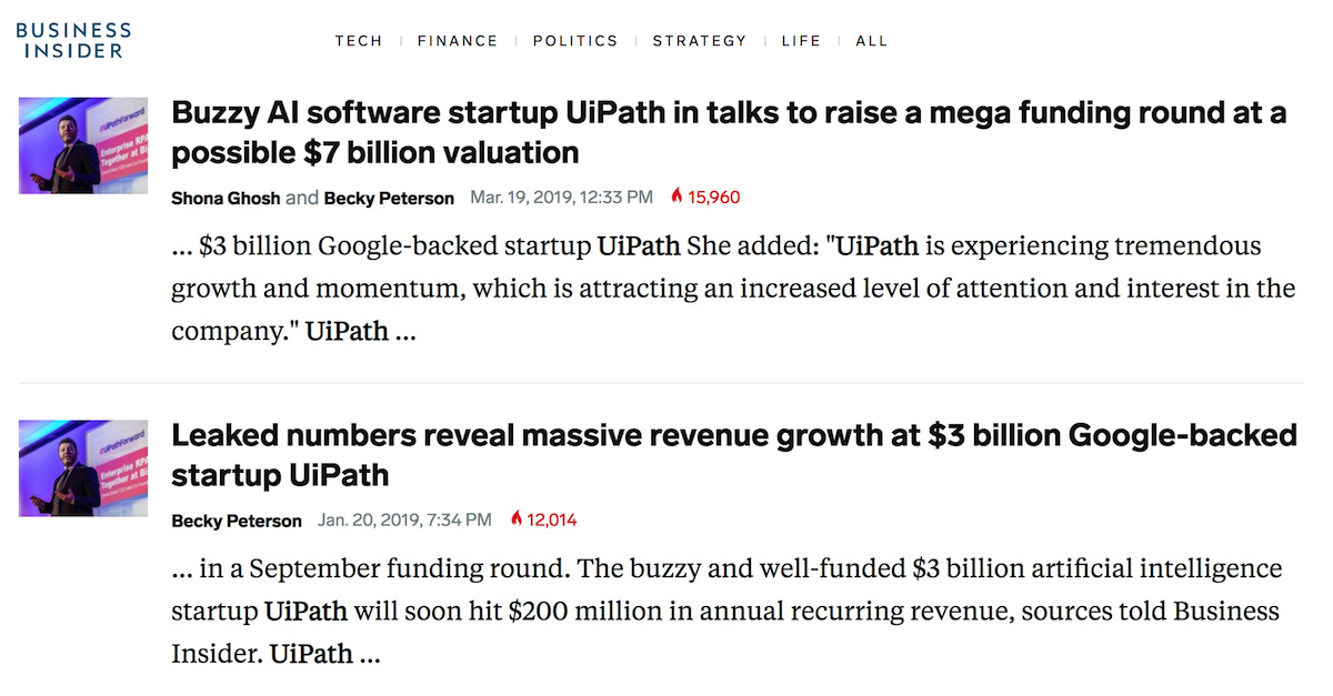 "Why is UiPath obsessed with this ""Funding Arms-Race"" when it should be focused on scaling its clients?"