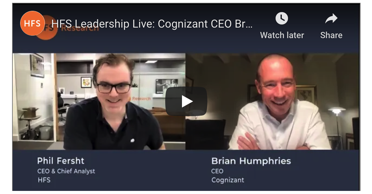 And here's an hour of my life I thoroughly enjoyed. I hope you to do... with Cognizant CEO Brian Humphries.