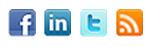 Facebook, LinkedIn, Twitter, RSS