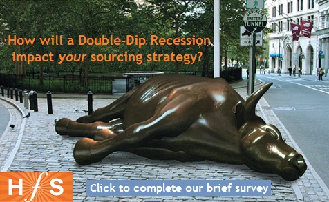 "Will a Double-Dip Recession reverse the trend of buyers ""delaying outsourcing"" during a slump?  Here are 10 factors to consider..."