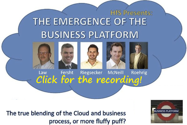 In case you missed today's webcast on Business Platforms, here's the re-run