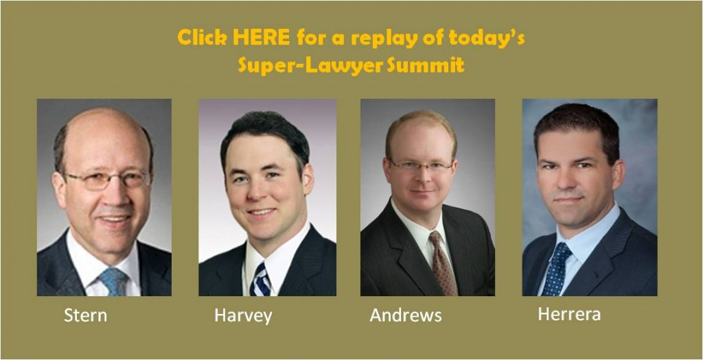 In case you somehow shamefully missed our Super-Lawyer Summit webinar...
