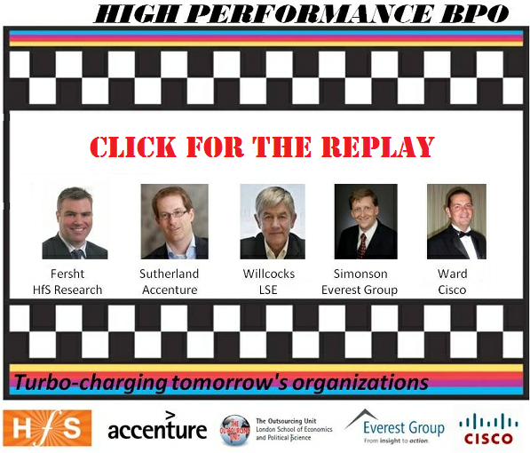 And for you low performers who missed the high performance BPO discussion... here's the replay