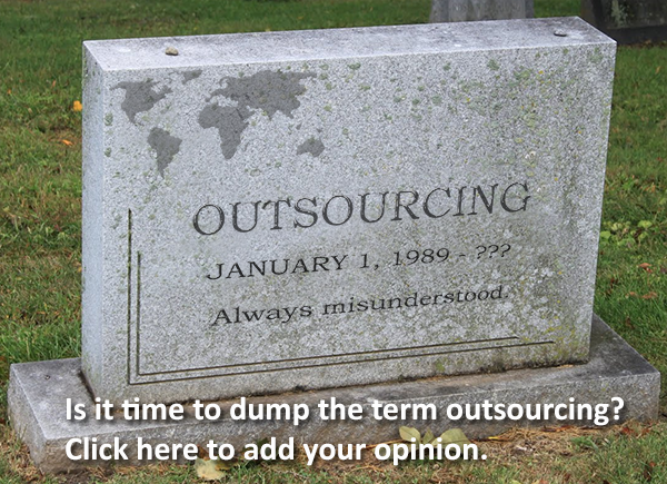 "It's time for YOUR vote... should we drop the word ""outsourcing""?"