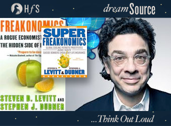 It's true! Freakonomics' Stephen Dubner is coming to dreamSource...