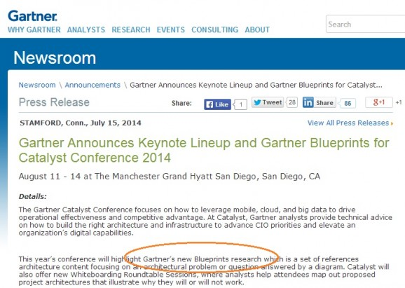 Great to see Gartner adopting our HfS Blueprints!
