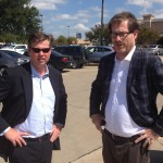 Charles Sutherland (pictured right) deconstructs BPO with Tom Ivory in a Dallas parking lot